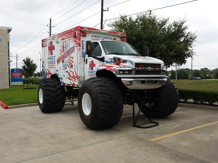 Pearland First Choice Emergency Room Monster Truck Ambulance