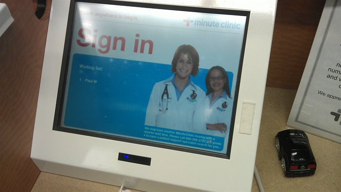CVS Minute Clinic Sign up Kiosk