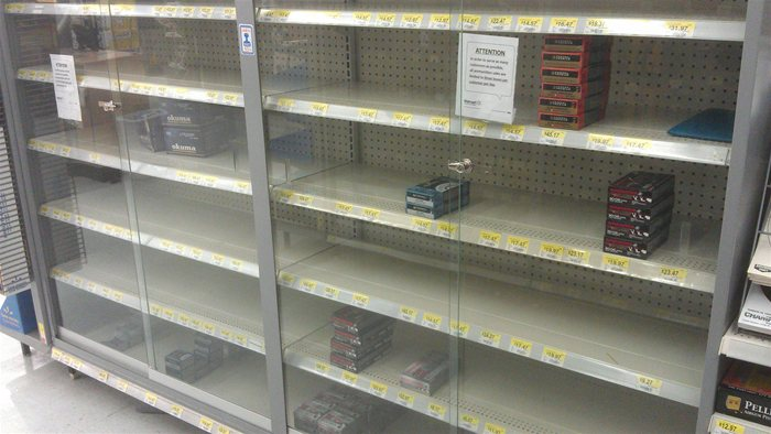 Ammo Shortage at Walmart