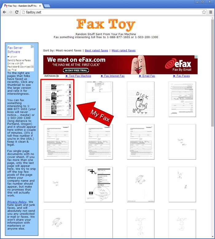 Fax Toy Website