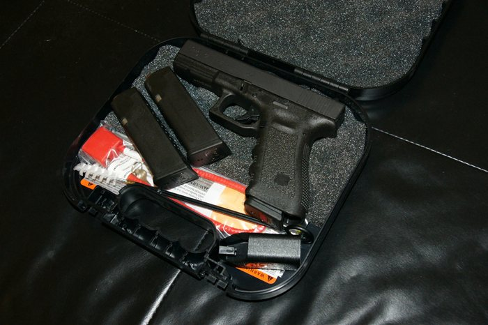 Glock 17 in Stoage Case with Magazines and Accessories