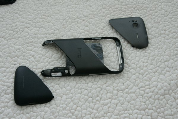 HTC Sensation 4G frame with plastics removed