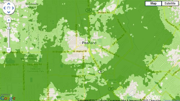 Clear Wireless provides honest coverage maps