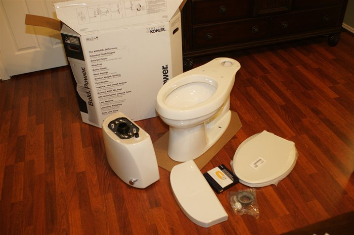 Kohler Cimarron Toilet parts included in box