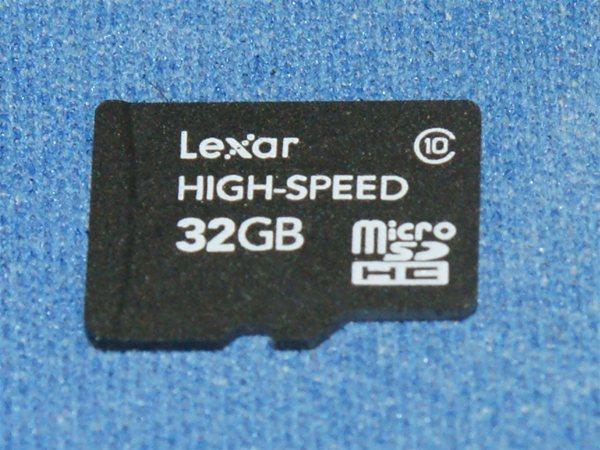 Lexar 32GB microSDHC Class 10 Memory card