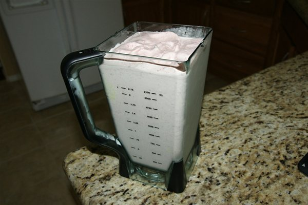 Ninja 1000 watt blender after making smoothie