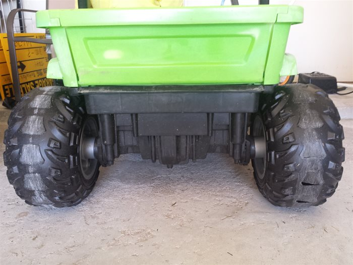 Power Wheels Rear Tires before wrapping