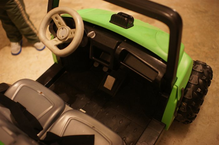 PowerWheels Jeep After Restoration Dash