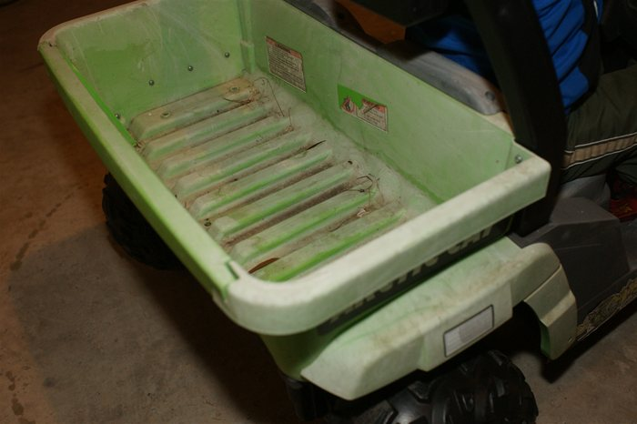 PowerWheels Jeep Before Restoration Bed