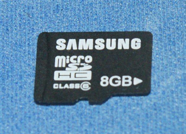 Samsung 8GB microSDHC Class 6 Memory card