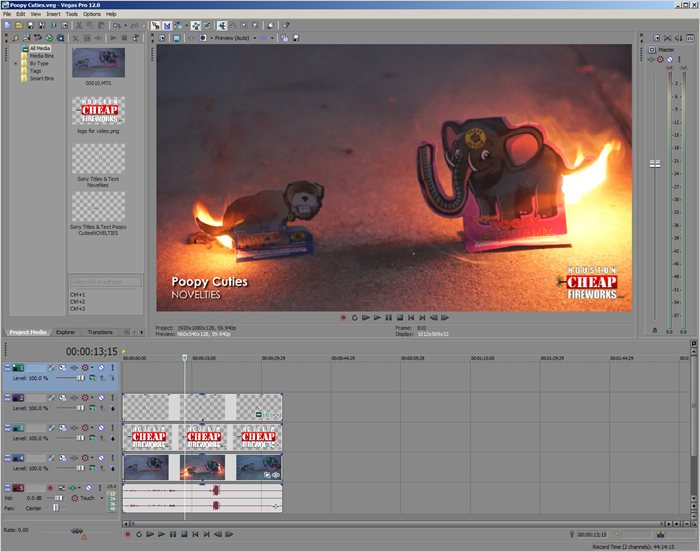 Sony Vegas Pro 12 Video Editor Software