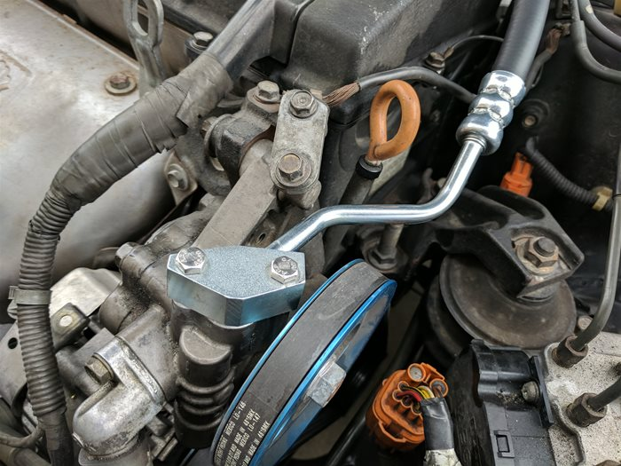 hose connected to Power Steering Pump