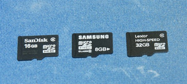 microSDHC cards for Benchmark