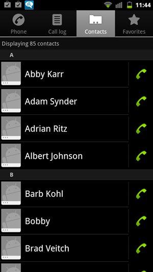 HTC Sensation 4G Cyanogenmod 7 / AOSP Contacts Screen