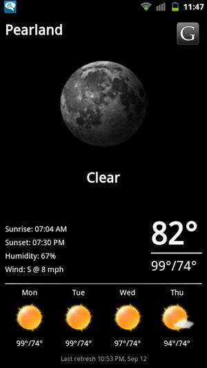 HTC Sensation 4G Cyanogenmod 7 / AOSP Fancy Widget Weather