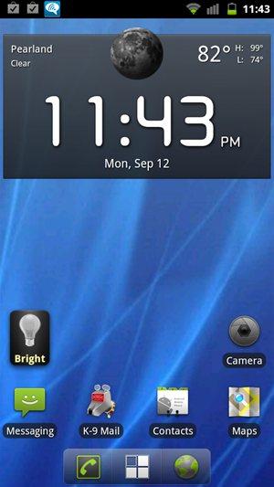 HTC Sensation 4G Cyanogenmod 7 / AOSP Home Screen