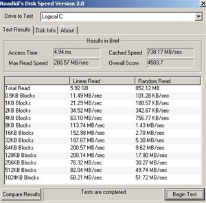 RocketRaid 4310 Benchmark