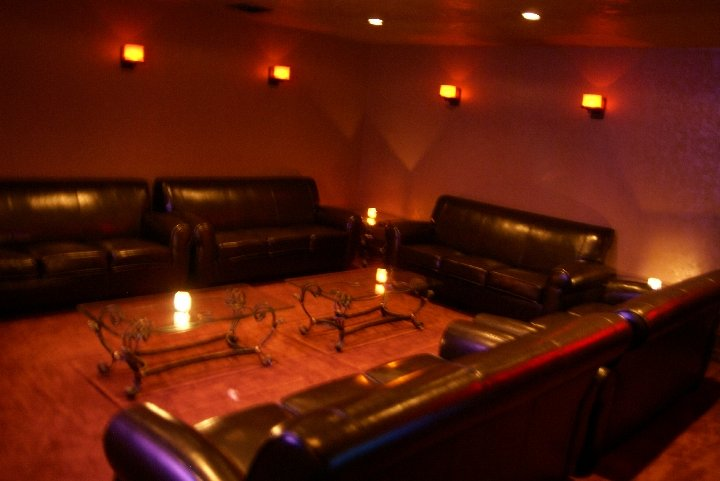 Couches in the VIP room at Iniquity Houston NightClub